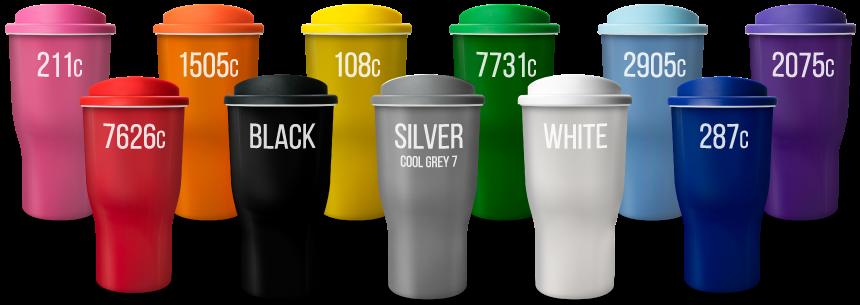 universal challenger tumblers closest pantone colours