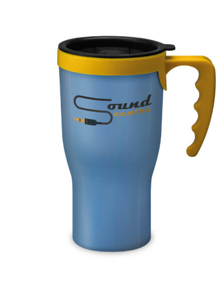 Universal Challenger Mug Blue and yellow