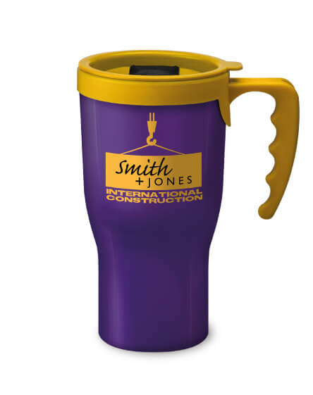 Universal Challenger Mug Purple and yellow