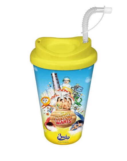 theme parks reusable cold drinks and coffee mugs