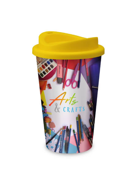 universal full colour printed reusable business mugs