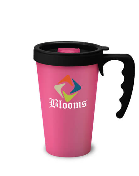 universal mugs printed and branded reusable travel mugs black handles