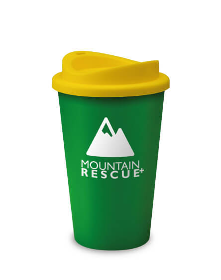 Universal Branded Recyclable Coffee Tumbler Green Yellow