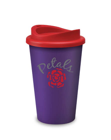Universal Mugs Promotional Printed Travel Tumbler Purple Red