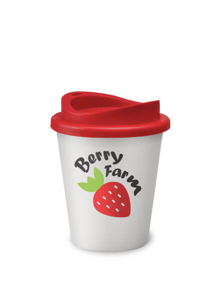 Universal Vending Mugs White Red