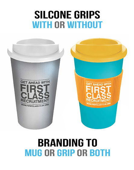 americano tumblers with grips branded reusable recyclable