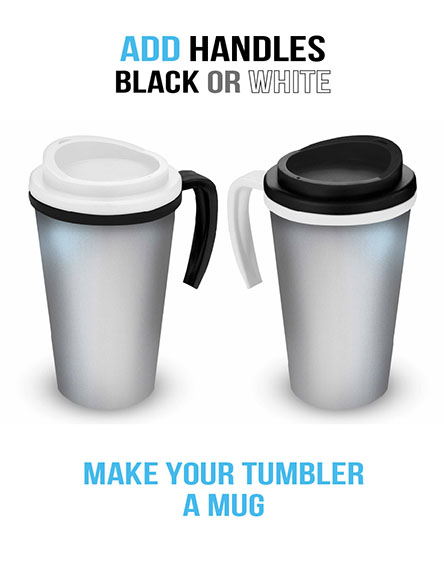 americano travel mugs handles black or white