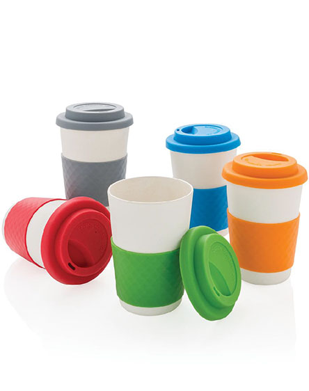 company branded bamboo reusable coffee cups