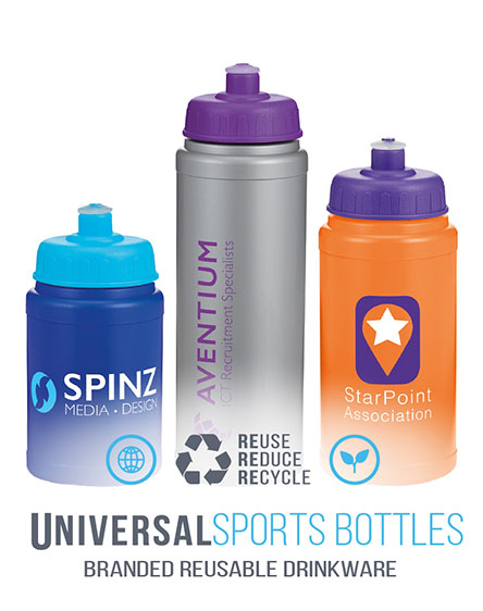 baseline sports bottles branded by universal mugs