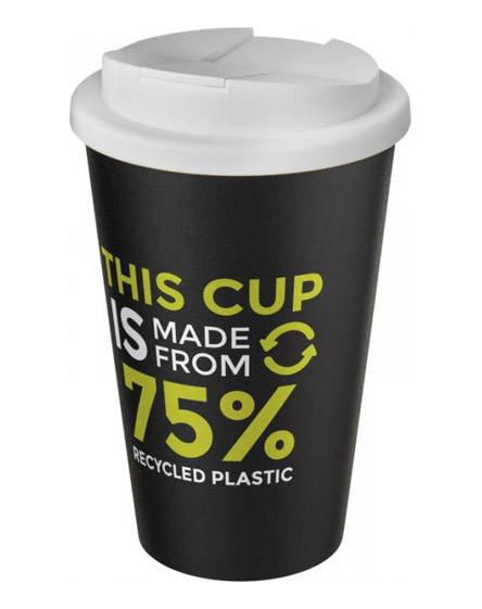 americano recycled cup with white spill proof lid