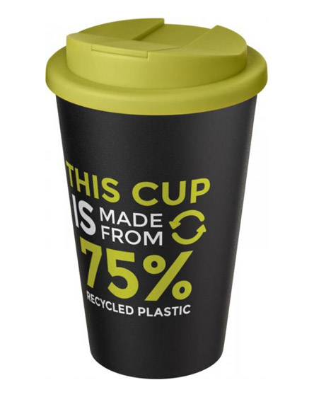 americano recycled cup with lime spill proof lid
