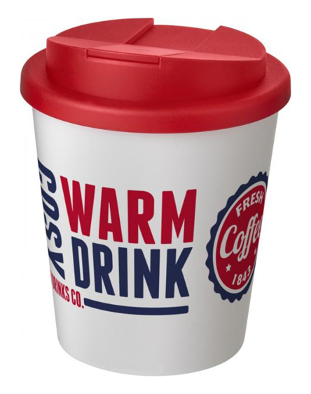 americano espresso 250ml spill proof lids branded reusable cups