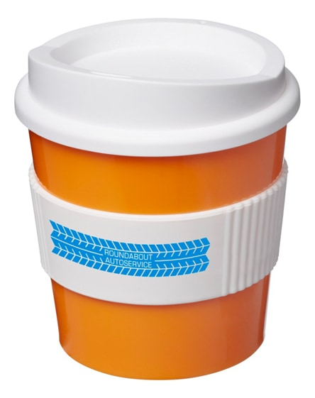 branded americano primo tumbler with grip