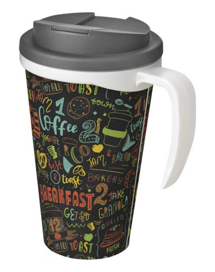 americano reusable mugs handle spill proof lids colour