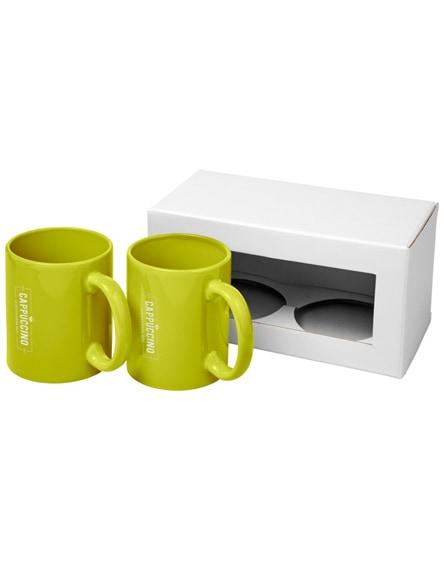 branded ceramic mug 2-pieces gift set