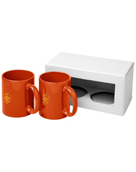 branded ceramic mug 2-pieces gift set