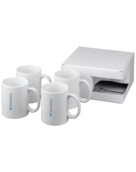 branded ceramic mug 4-pieces gift set