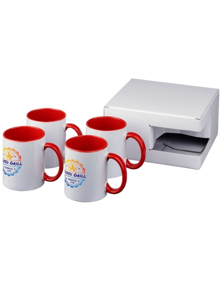 branded ceramic sublimation mug 4-pieces gift set