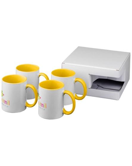 branded ceramic sublimation mug 4-pieces gift set