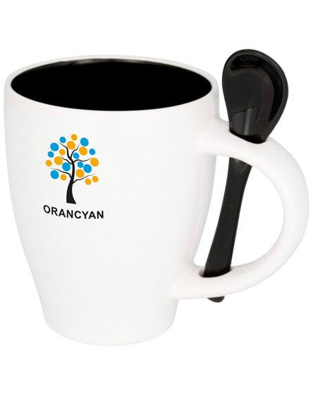 branded nadu ceramic mug with spoon