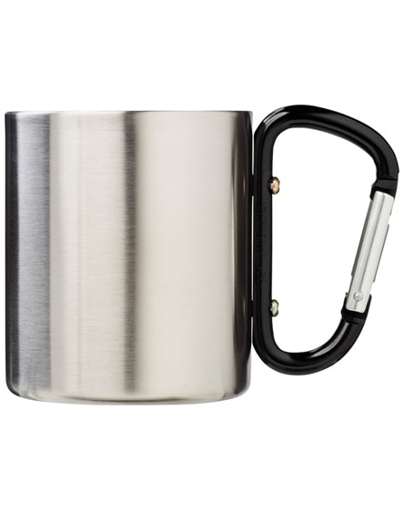 branded alps insulated mug with carabiner