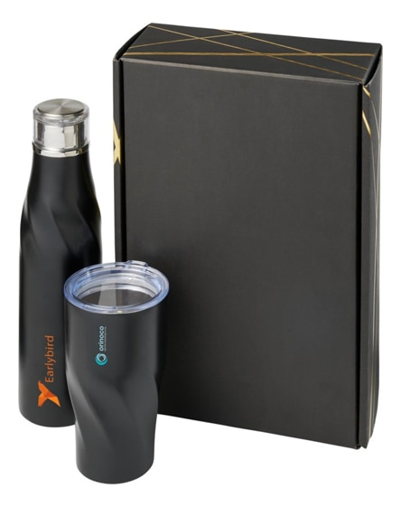branded hugo copper vacuum insulated gift set