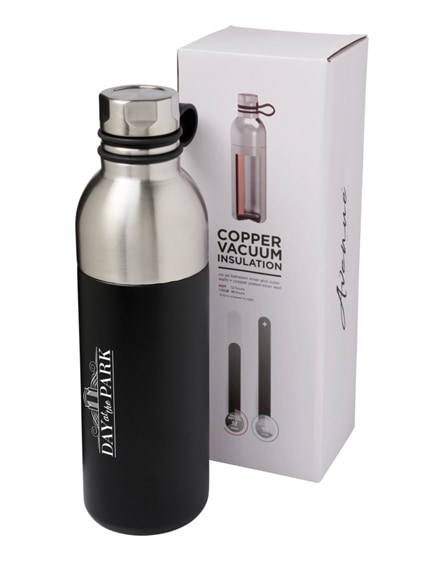 branded koln copper vacuum insulated sport bottle