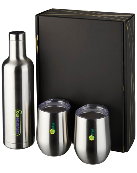branded pinto and corzo copper vacuum insulated gift set