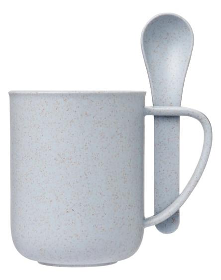 branded rye wheat straw mug with spoon