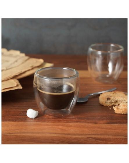 branded boda 2-piece glass espresso cup set