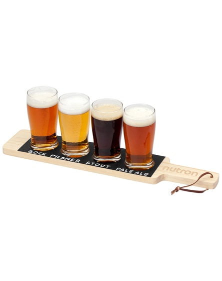 branded cheers beverage flight serving tray