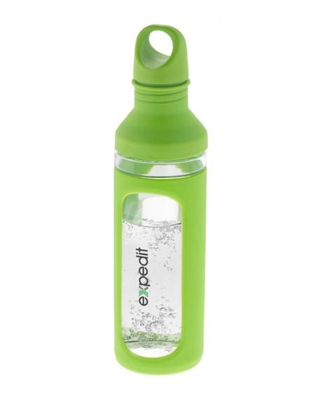 branded hover glass sport bottle