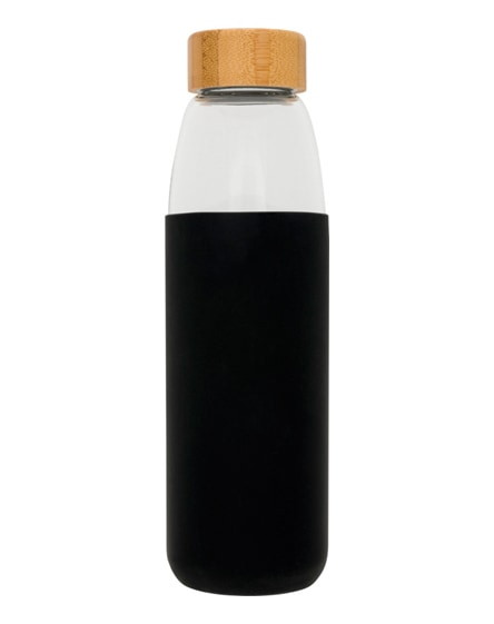 branded kai glass sport bottle with wood lid