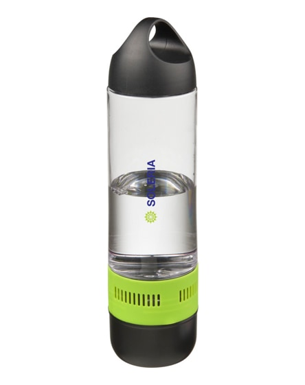 branded ace sports bottle with bluetooth speaker