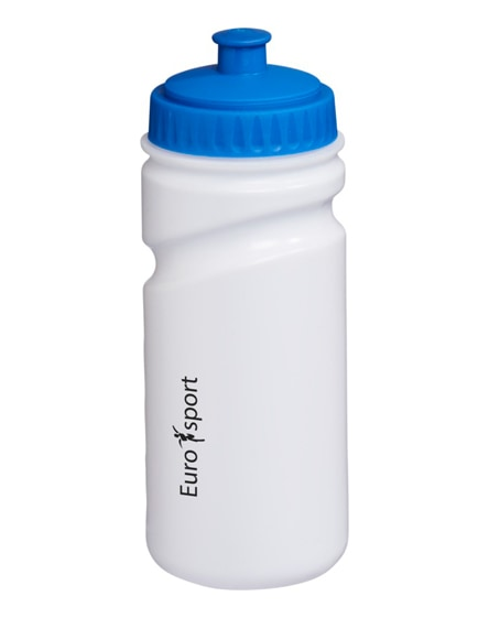 branded easy-squeezy white sport bottle