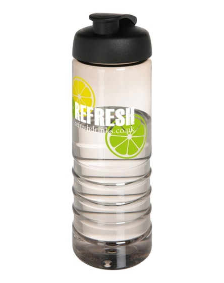 branded h2o treble flip lid sport bottle