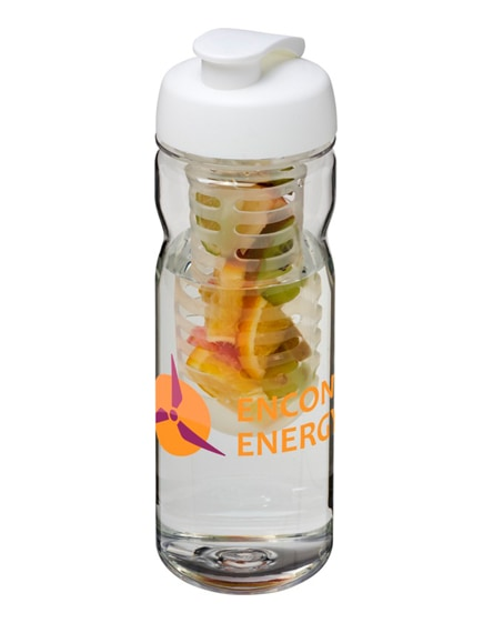branded h2o base tritan flip lid bottle & infuser