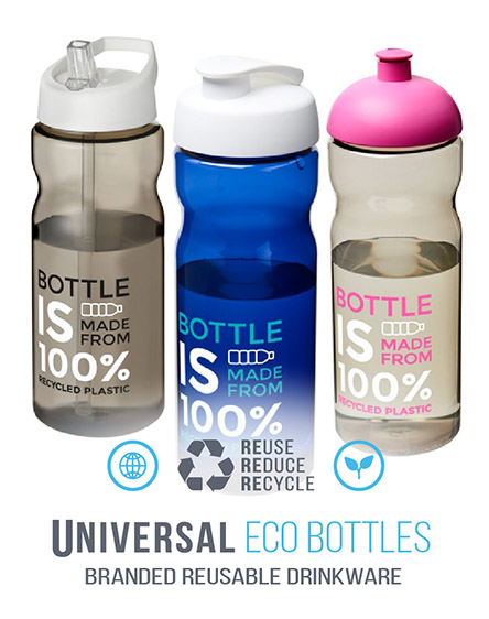 h2o eco recycled sports water bottles