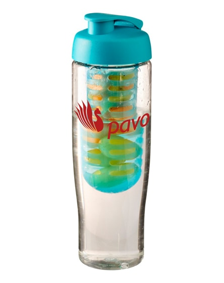 branded h2o tempo flip lid sport bottle & infuser