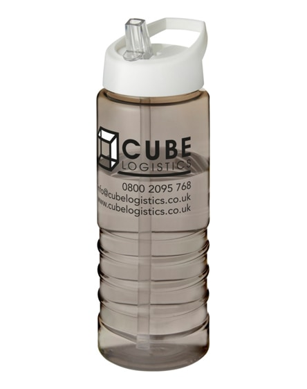 branded h2o treble spout lid sport bottle