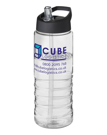 branded h2o treble spout lid sport bottle