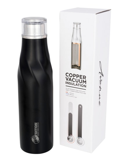 branded hugo seal-lid copper vacuum insulated bottle