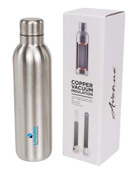 branded thor copper vacuum insulated sport bottle