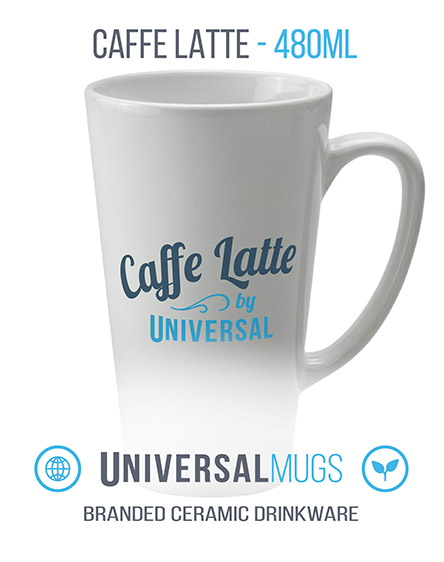 caffe latte ceramic mugs branded universal