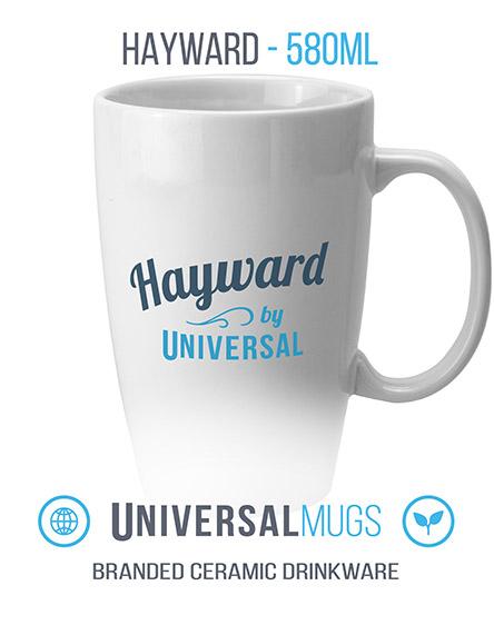 hayward ceramic mugs branded universal