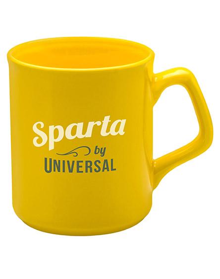sparta ceramic mugs branded universal yellow
