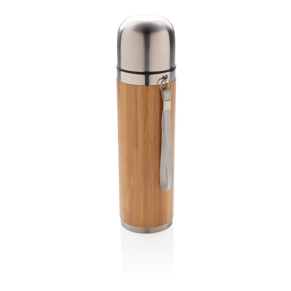 Bamboo Vacuum Travel Flask