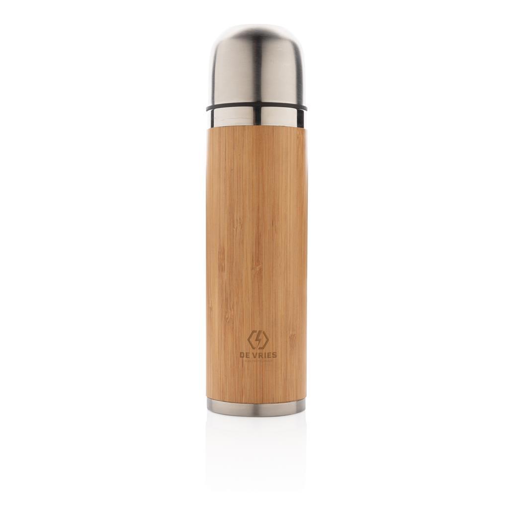 Bamboo Vacuum Travel Flask