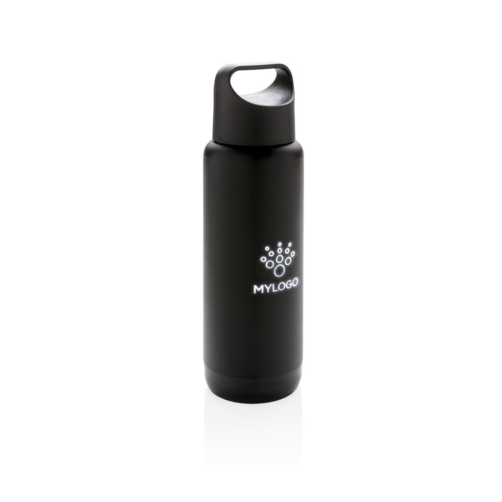 Engraved Sample Of Light Up Logo Leak Proof Flask