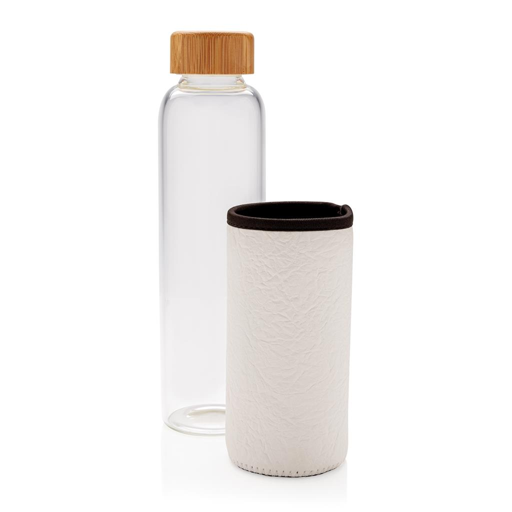 Glass Bottle With Textured Pu Sleeve